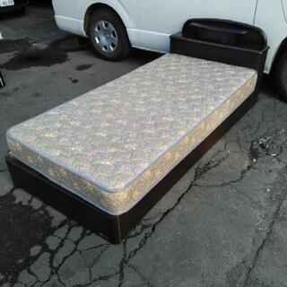 美品 フランスベッド シングルベッド マットレス 引き出し付 札...