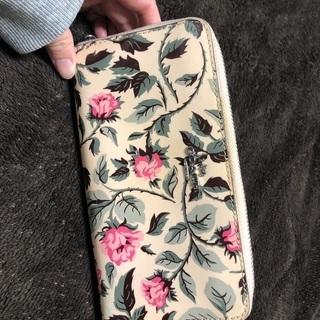 【ネット決済】コーチの花柄長財布