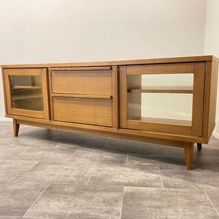 テレビボード 茶 テレビ台 リビング家具 中古品
