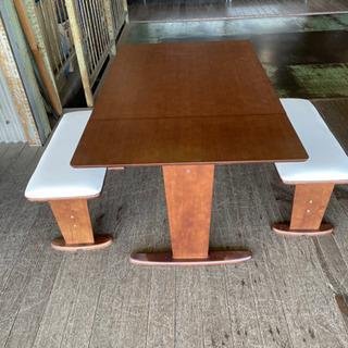 食卓3点セット 12800円 伸長式