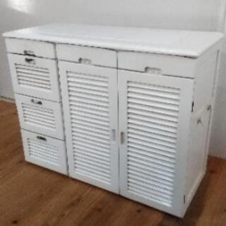 木製キッチン収納 幅82×奥行35×高さ64.5センチ