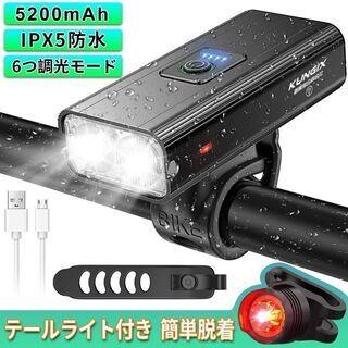 【新品・未使用】自転車用LEDライト(テールライト付)