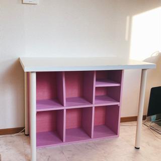 デスク、椅子(IKEA)/デスク下棚(DIY)