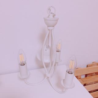シャンデリア ホワイト 3灯