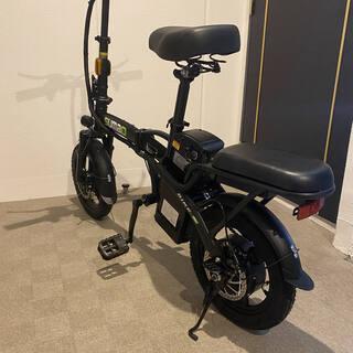 【ネット決済・配送可】二人乗り フル電動自転車 折り畳み 速度3...