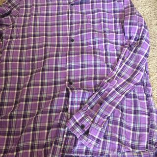 男性 シャツ L  紫 ユニクロ