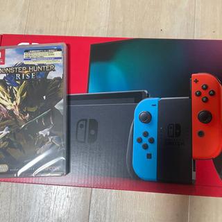 Nintendo Switch ネオン新品未使用+モンスタ…