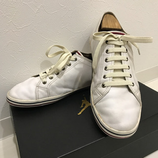 FRED PERRY レザースニーカー(白/29.0cm)