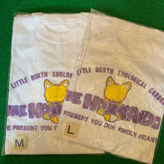 北海道柄  バックプリントTシャツ  2枚セット(M.L)