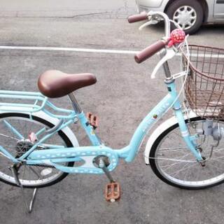 【ネット決済】子供用 自転車 20インチ 変速なし 水色