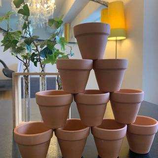 小さな素焼きの植木鉢10個セット