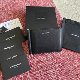 サンローラン マネークリップ 財布 二つ折り財布 ラウンドファスナー