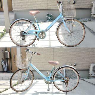 24インチ 女の子用 Re:turn off 6段変速 自転車(ライトNG) - 自転車