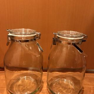 【ネット決済】【お譲り致します】セラーメイト 取手付き密閉瓶 3...