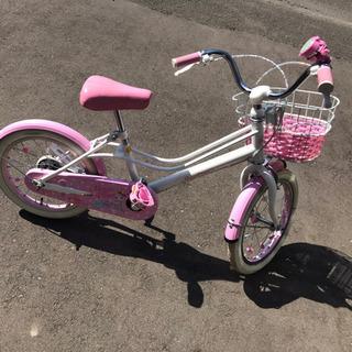 【決まりました】メゾピアノ子ども自転車、ヘルメット付き