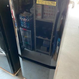 2018年製 三菱 146L 2ドア冷蔵庫(サファイヤブラ…