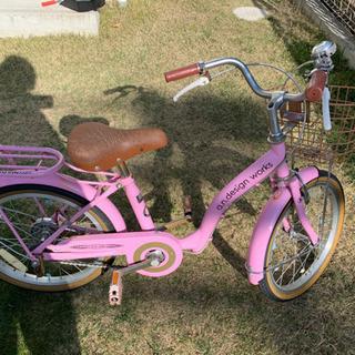 子ども 18インチ 自転車 ピンクの画像