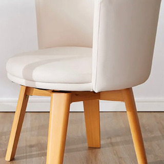 白い座面回転式食卓椅子2脚セット 2ヶ月使用