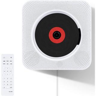 CDプレーヤー 置き&壁掛け式 Bluetooth/FM/USB対応