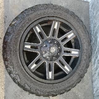 プラドタイヤ6穴  4本セット溝あり