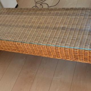 最終価格!金曜日まで。竹細工?のテーブル - 下関市
