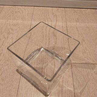 おしゃれプランター ガラス製・中古