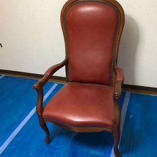 【ネット決済】革 アンティーク ヨーロピアン肘掛け椅子