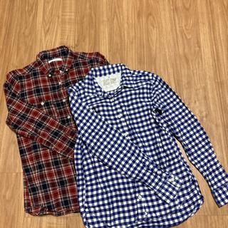 長袖ネルシャツ 2枚セット
