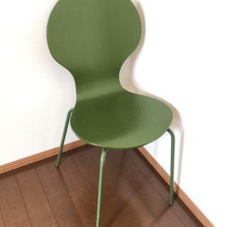 グリーンのチェア ダイニングチェア デスクチェア 椅子