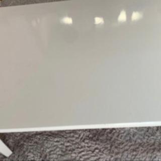 白 鏡面 ローテーブル 家具調 こたつテーブル - 京都市