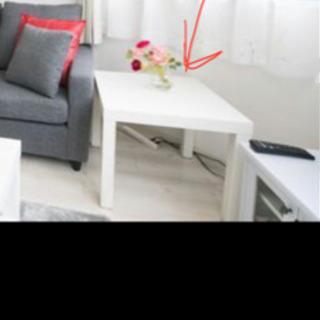 IKEA  サイドテーブル ローテーブル ホワイト 白