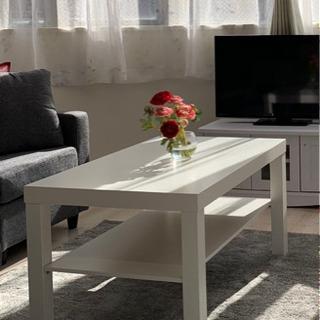 IKEA  サイドテーブル ローテーブル ホワイト