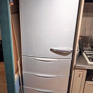 ★ 350L 以上!左開き★ AQUA ノンフロン冷凍冷蔵…