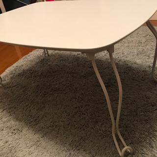 【お譲りします: 4/19まで】折り畳みローテーブル, ホ…