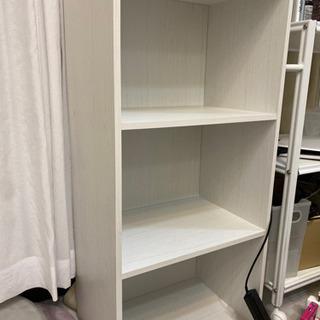 白の3段ボックス