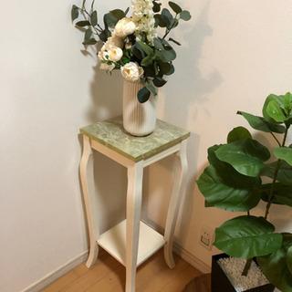 大理石サイドテーブル フラワースタンド 花台 アンティーク