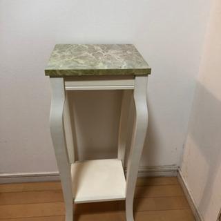 大理石サイドテーブル フラワースタンド 花台 アンティーク - 家具