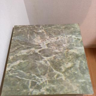 大理石サイドテーブル フラワースタンド 花台 アンティーク - 鯖江市