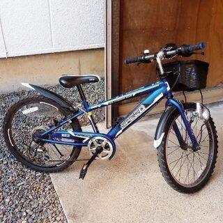 22インチ自転車 ギア付 日常の保管はガレージです