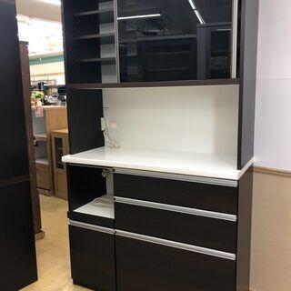 🍀松田家具🍀 2面 キッチンボード 食器棚 スライドレール