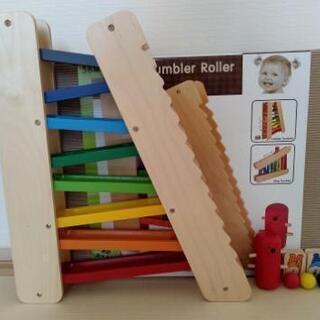Slope Tumbler Roller 木のおもちゃ