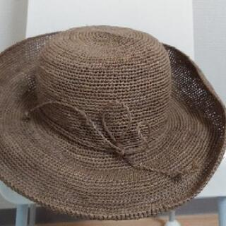中古 ラフィア 帽子