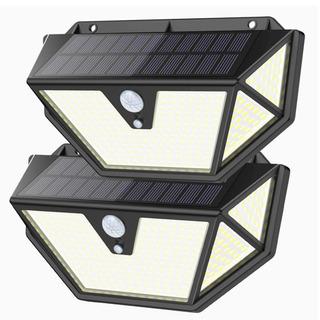 【新品】センサーライト / ソーラーライト (5面発光)2個セット