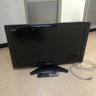 テレビ/AQUOS32V型ワイド/台座込み/美品