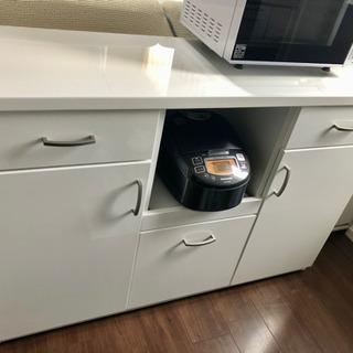 【状態良好】ニトリ 白 キッチンカウンター