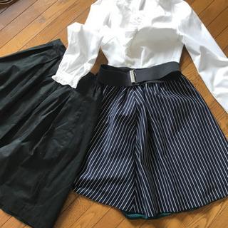 黒スカートと白ブラウスのみ。の画像