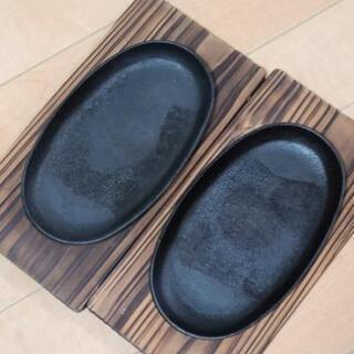 ステーキプレート&木製受け皿