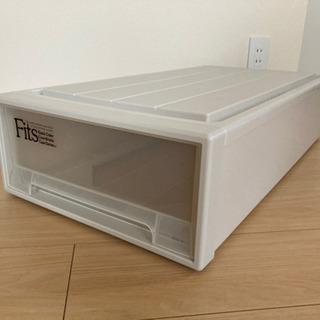 Fits収納ケース3個セット(クローゼット収納、ベッド下収…