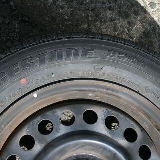 日産 純正15インチ ホイール4本 タイヤ付き ティーダ …