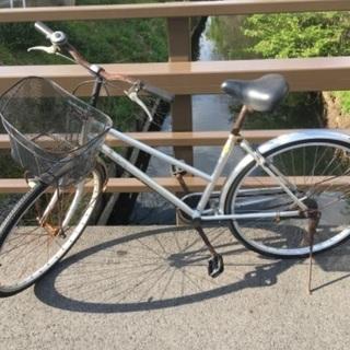 値下げ(chariyoshy 出品)26インチ自転車 シルバー-3